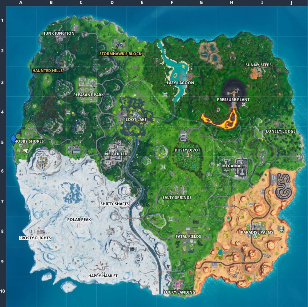 fortbyte 3 western most point location