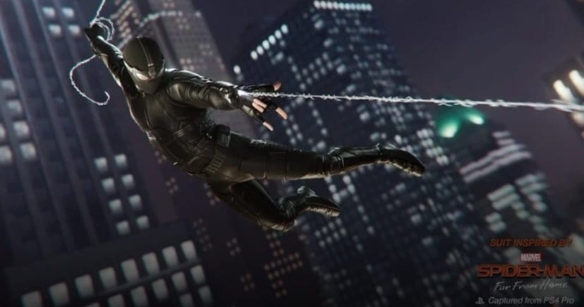 Spider-Man Far From Home Stealth suit in PS4