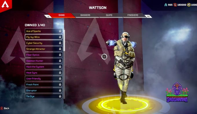 Apex Legends, Wattson Legendary Skins