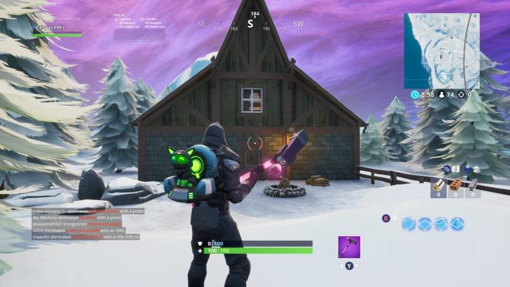 crackshot's cabin in fortnite