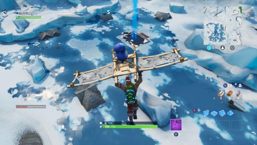 fortbyte 94 blue canoe under a frozen lake