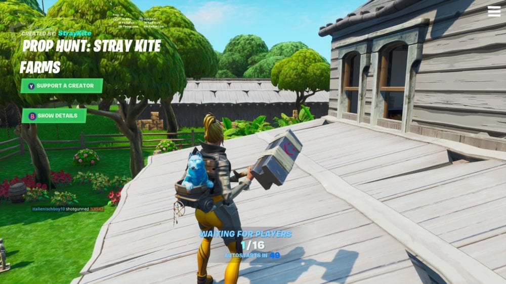 Fortnite How To Play Prop Hunt Island Code