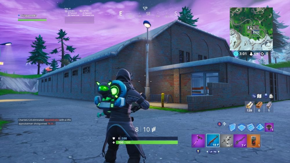 fortnite score a goal on indoor soccer pitch