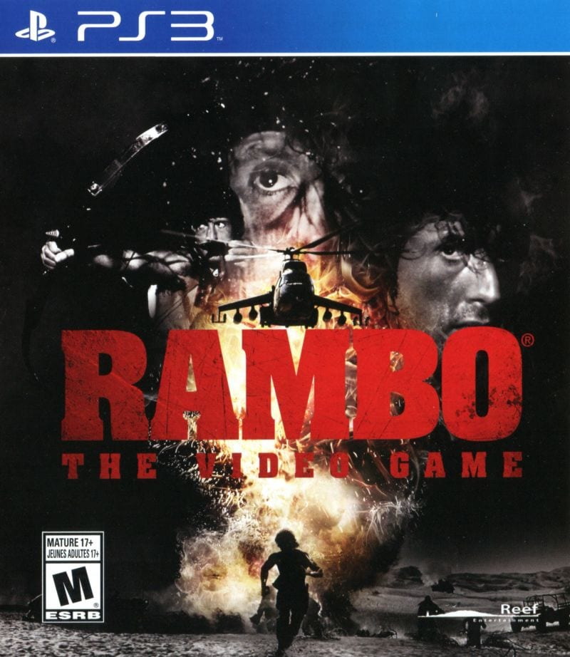 rambo the video game box art, bad games