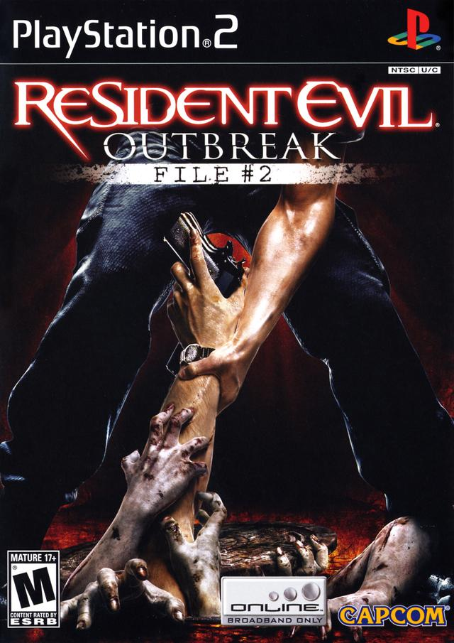 resident evil outbreak file #2 box art, bad games
