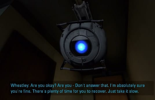 Wheatley's betrayal in Portal 2