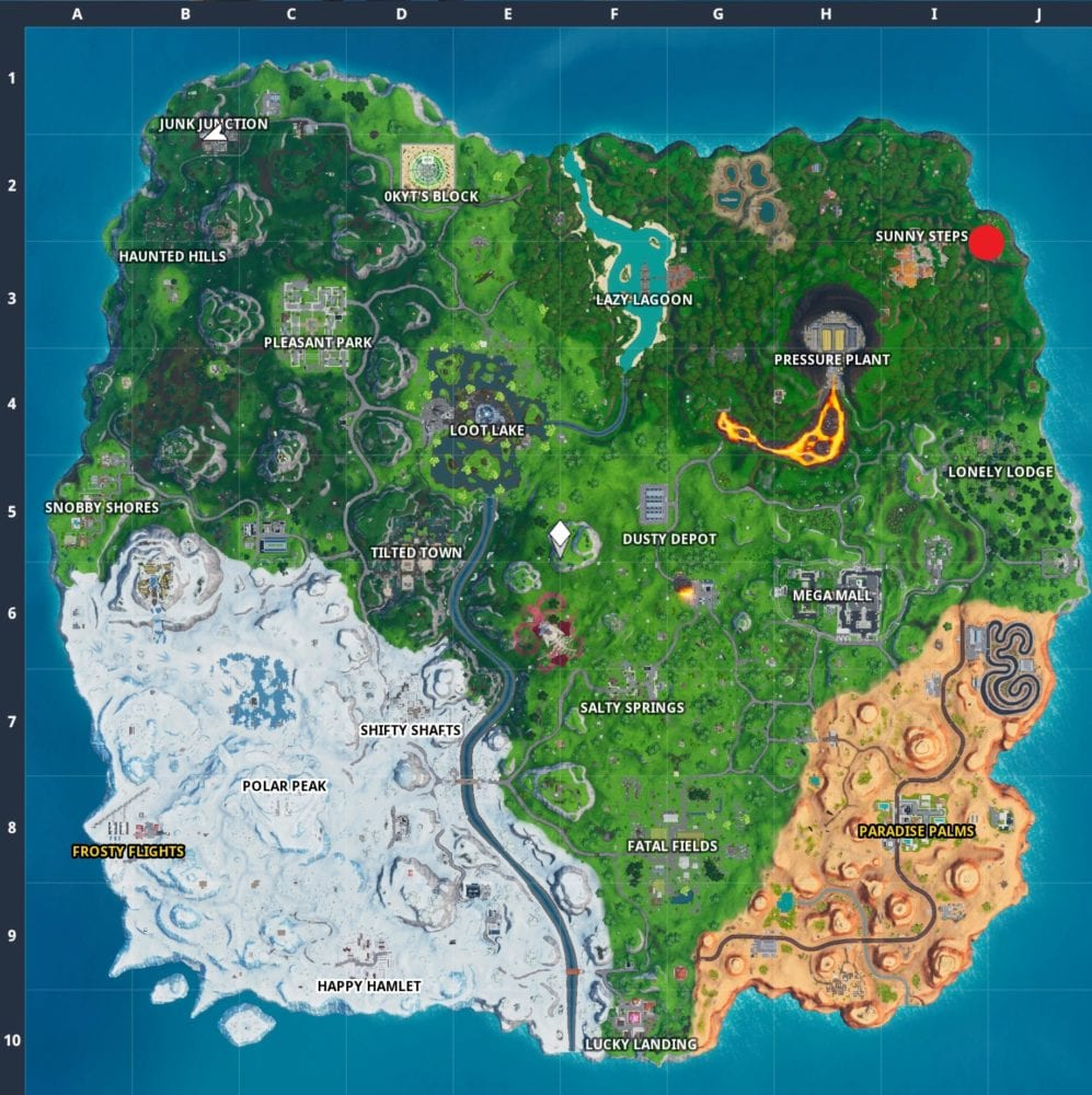 Where to find Fortnite Season 10 'Shootout at Sundown' Hidden Battle Star