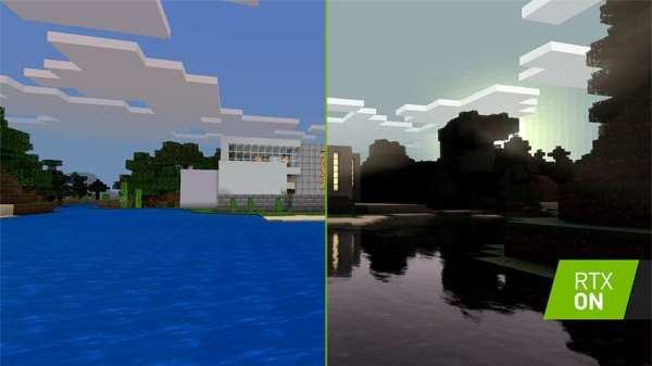 Minecraft RTX raytracing