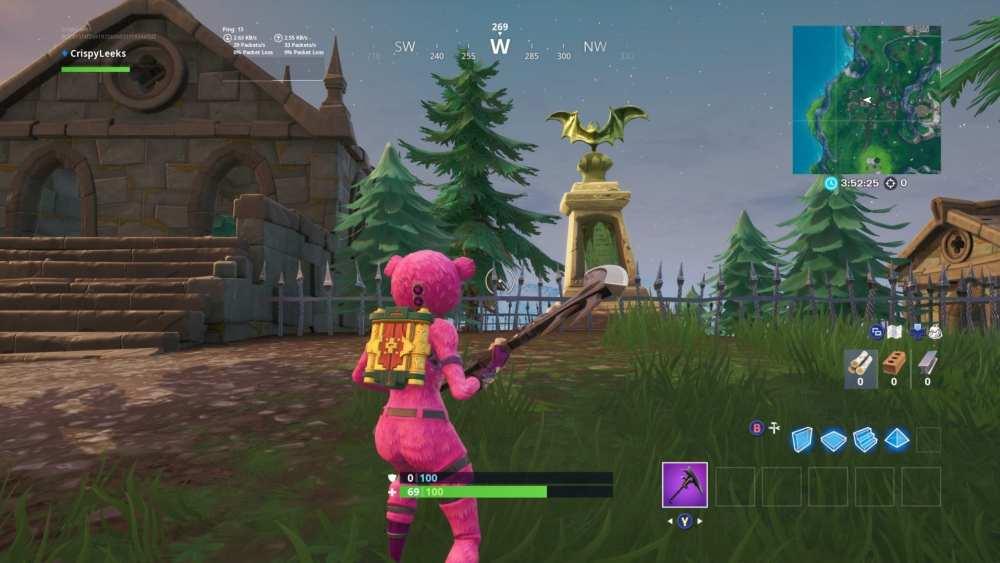 Fortnite Bat Statue Location