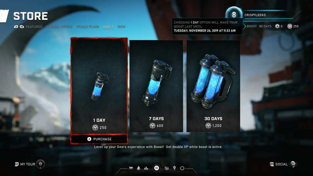 level up fast in Gears 5