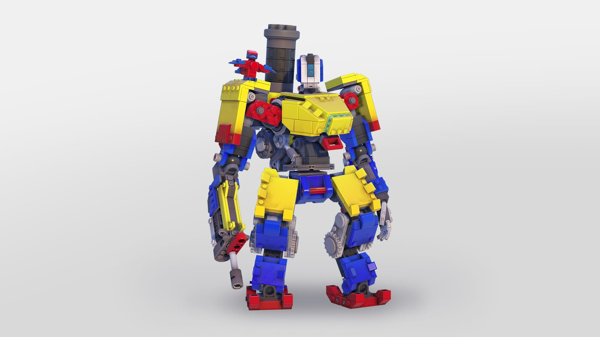 Overwatch's LEGO Bastion Skin Looks Great