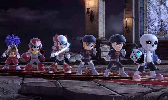 super smash bros ultimate, sans, mii fighter, costume