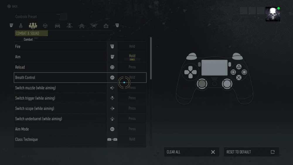 Remapping Breath Control in Ghost Recon Breakpoint