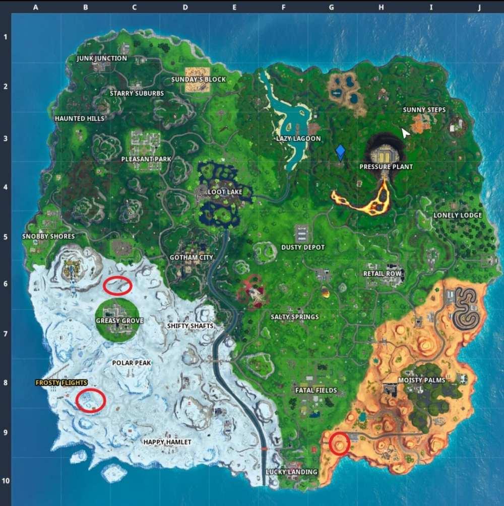 Fortnite bullseye locations