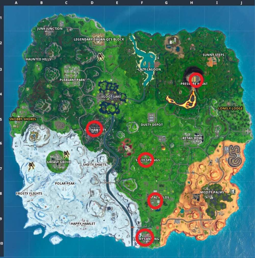 Fortnite Joker Gas Canister Locations