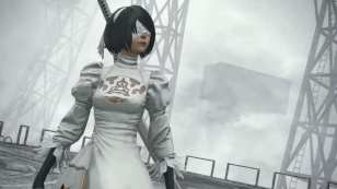 Final Fantasy XIV NieR Automata Raid