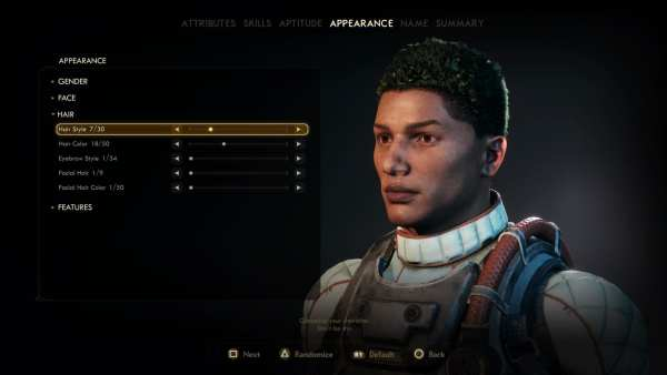The Outer Worlds hairstyles
