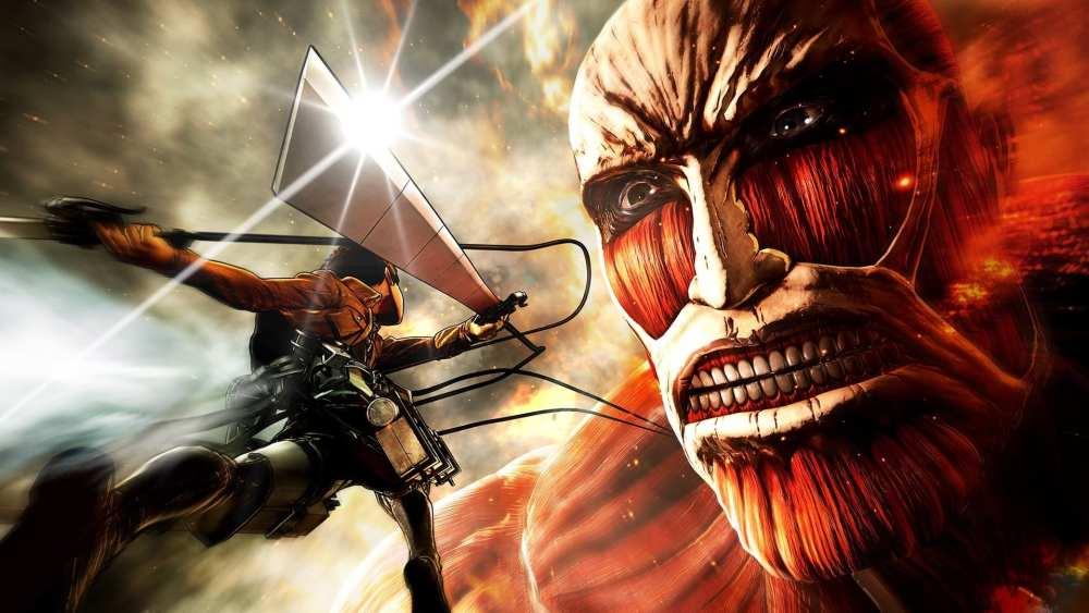 attack on titan, monster hunter