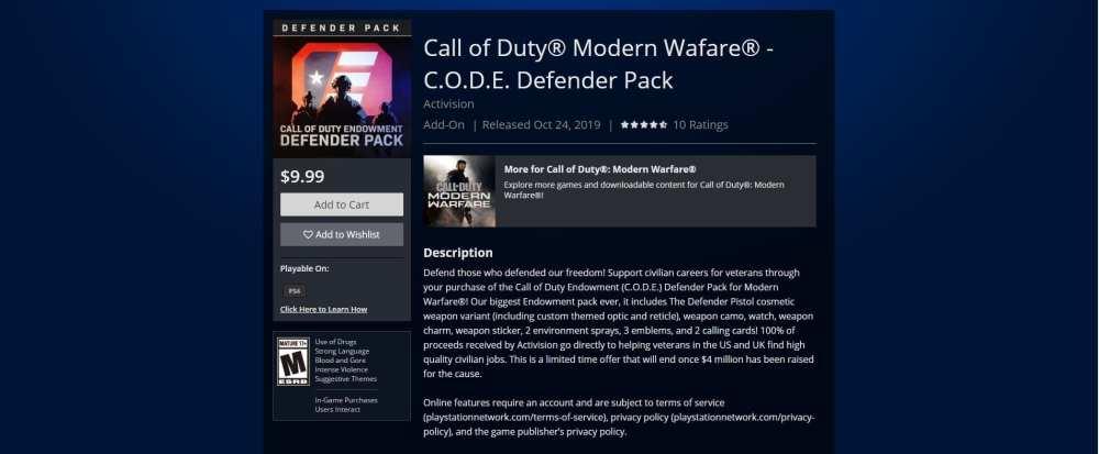 Modern Warfare endowment pack