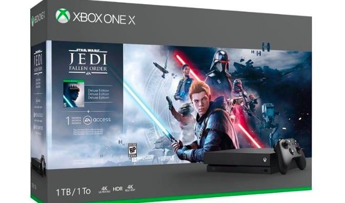 star wars jedi fallen order console bundle, xbox one x, black friday 2019