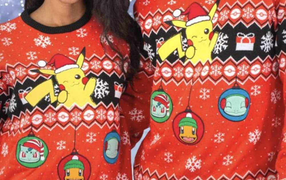 pokemon christmas sweaters, ugly sweaters, must-haves