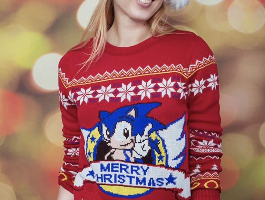 Sonic the Hedgehog, ugly christmas sweater
