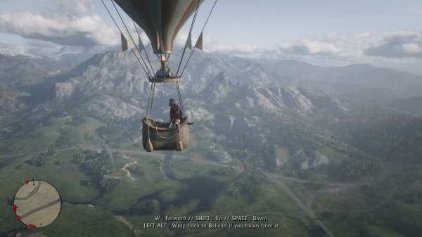 rdr2, mods, hot air balloon