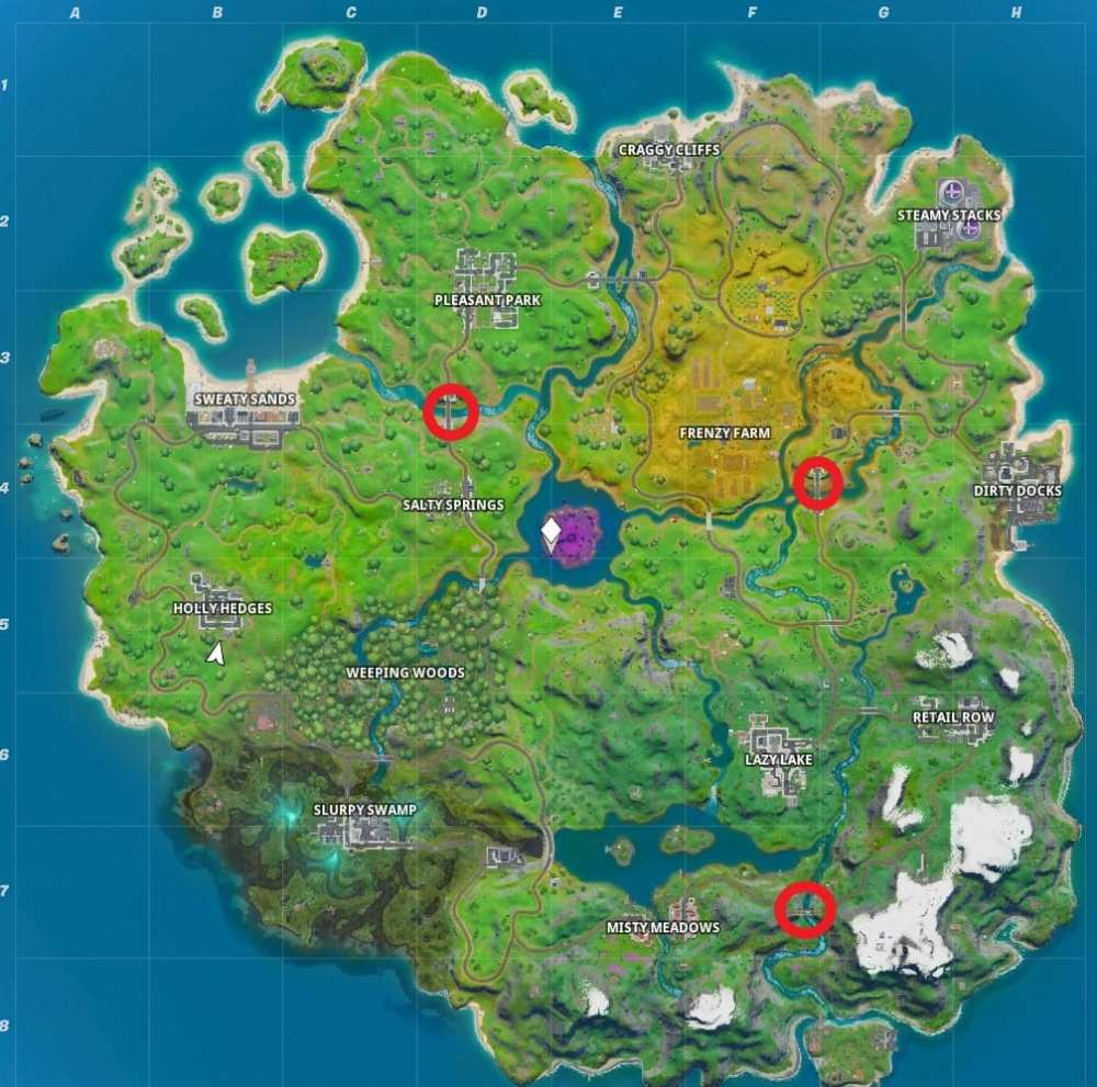fortnite bridge locations