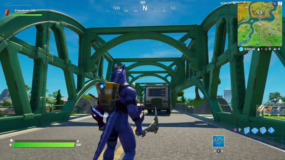Fortnite green bridge location