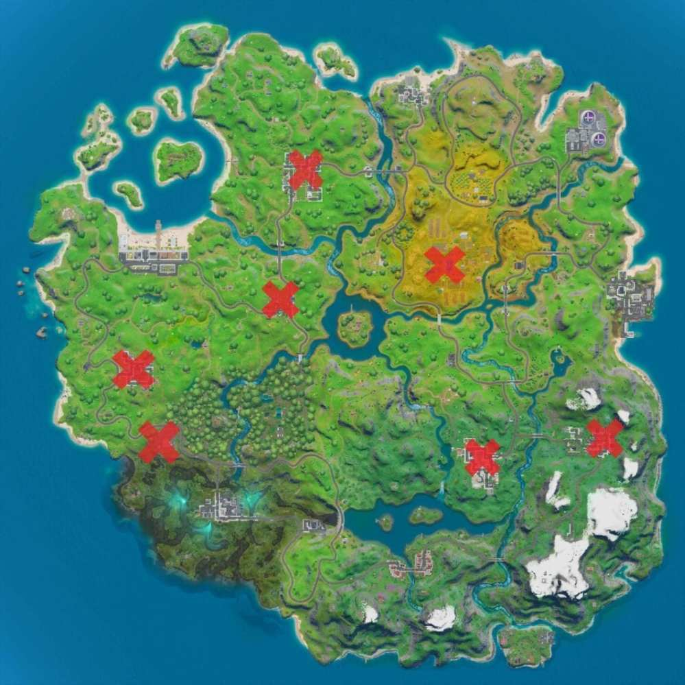 Fortnite Snowflake Decoration locations