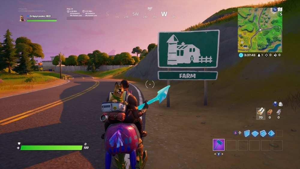 Fortnite Farm Sign, fortnite hidden gnome