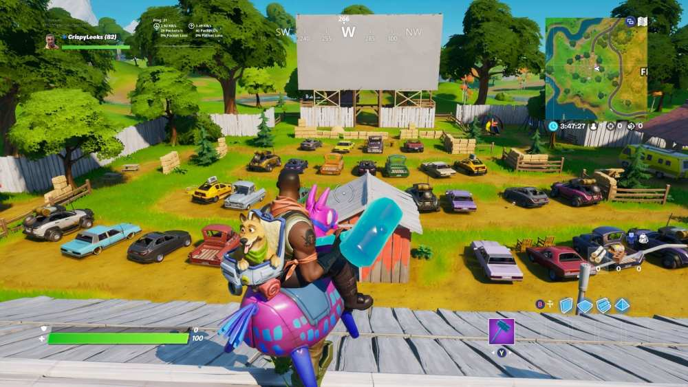 Fortnite Outdoor movie theater