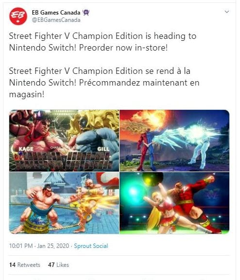 Street Fighter V Switch