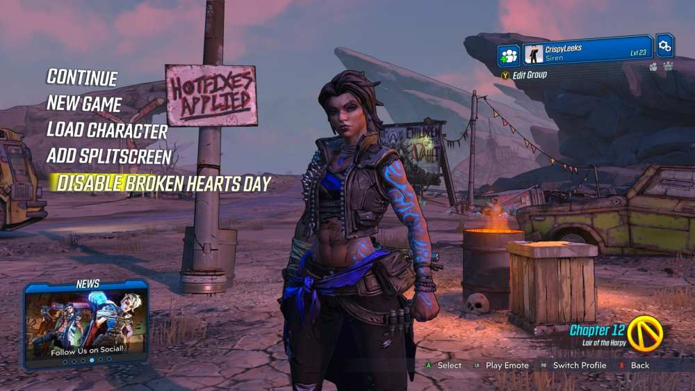 Borderlands 3 corazones rotos