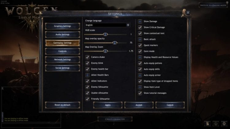 wolcen lords of mayhem change language