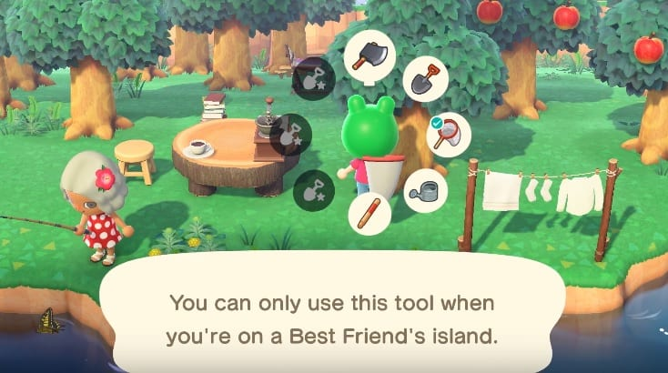 best friends, tools, animal crossing new horizons