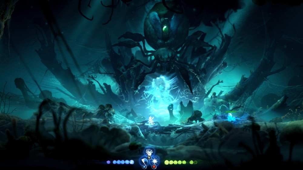 Ori and the Will of the Wisps, spider boss fight, Mora boss