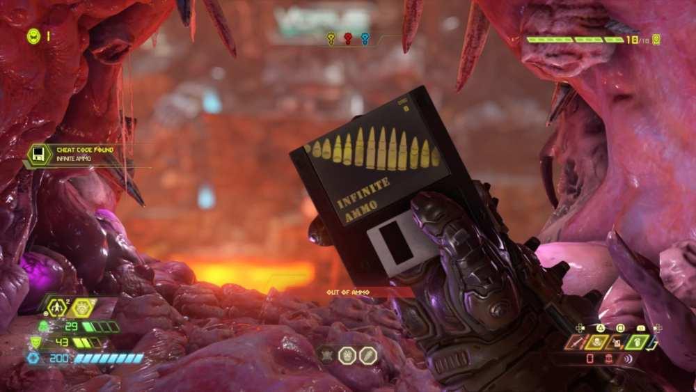 doom eternal, infinite ammo cheat