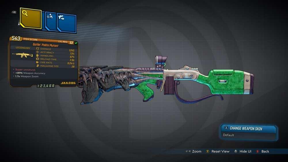 Mutant Legendary Assault Rifle
