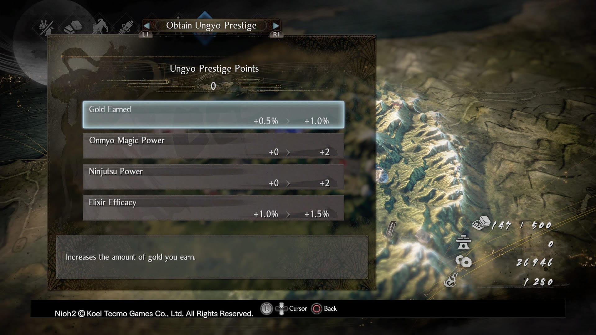 Nioh 2 Prestige Points Ungyo Buffs