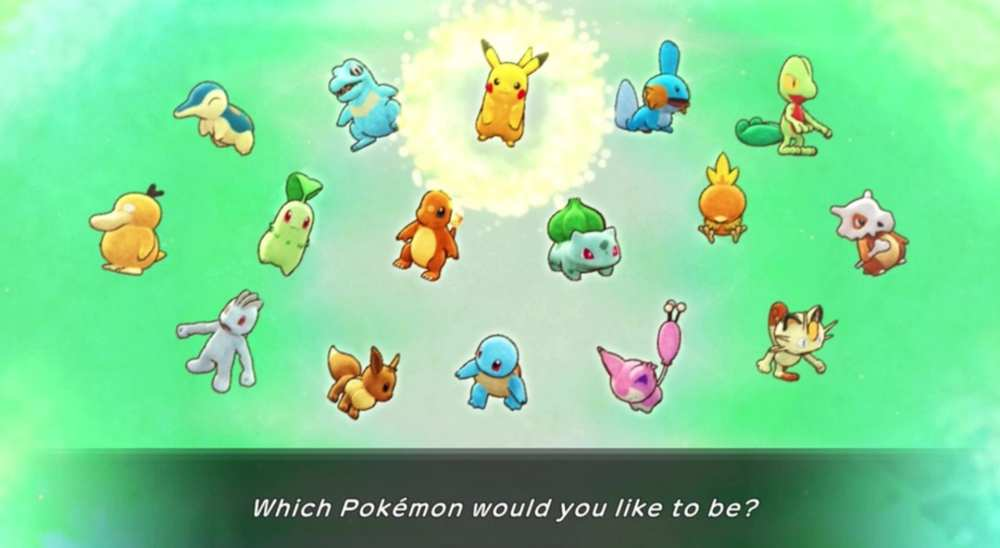 best starter pokemon in pokemon mystery dungeon dx, nintendo switch