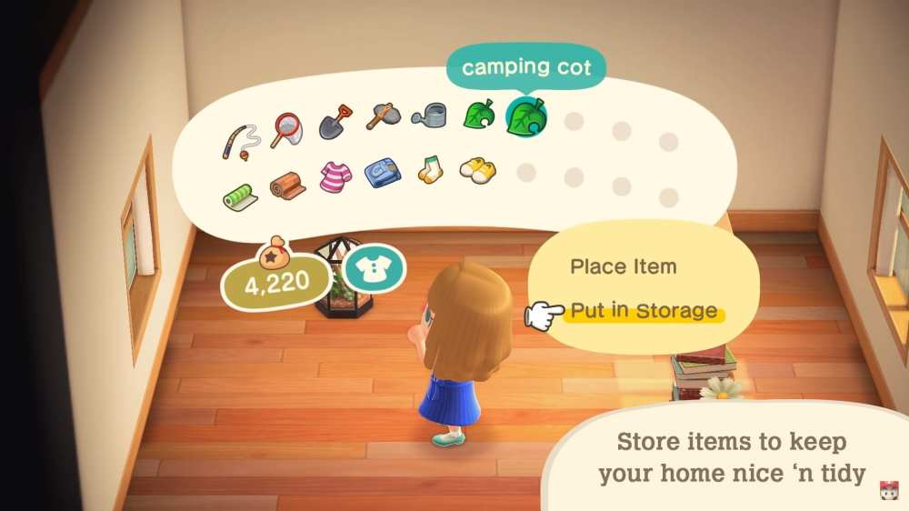store items in Animal Crossing: New Horizons