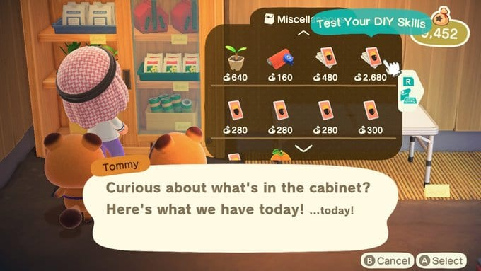 test your diy skills in Animal Crossing: New Horizons