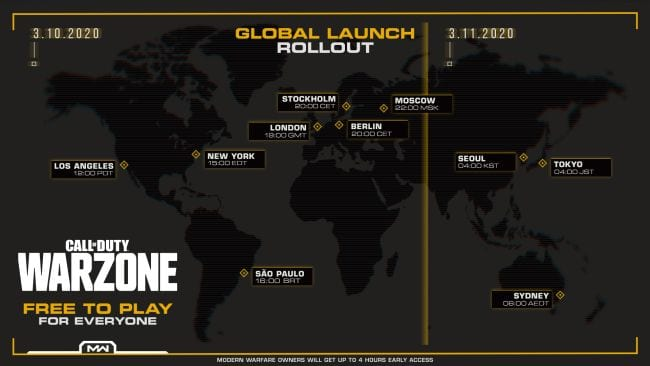 Call of Duty Warzone unlock times, how to download call of duty warzone