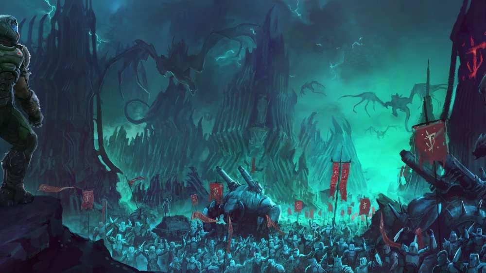 doom eternal wallpapers, doom eternal