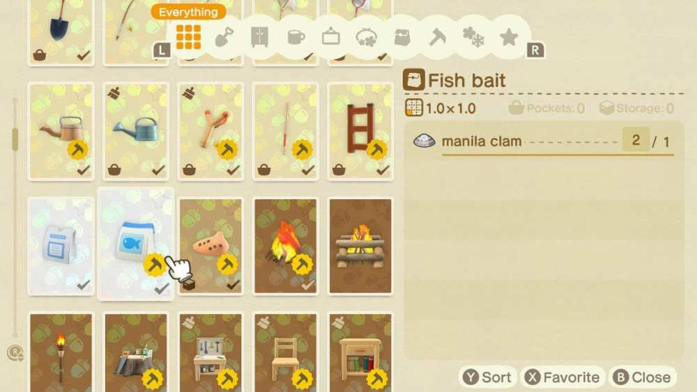how to get bait animal crossing new horizons