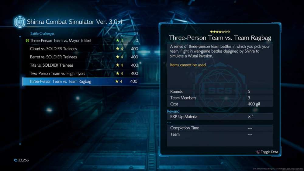 Staggering Feat trophy, Final Fantasy VII Remake, 300 Stagger