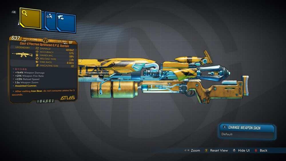 OPQ System Legendary Assault Rifle