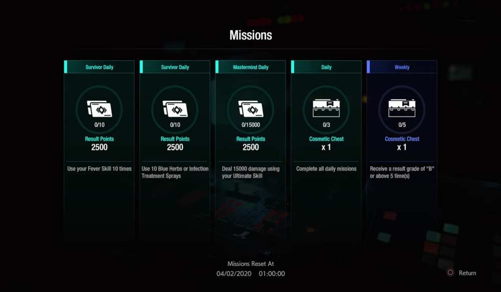 resident evil 3, resistance, skill cards