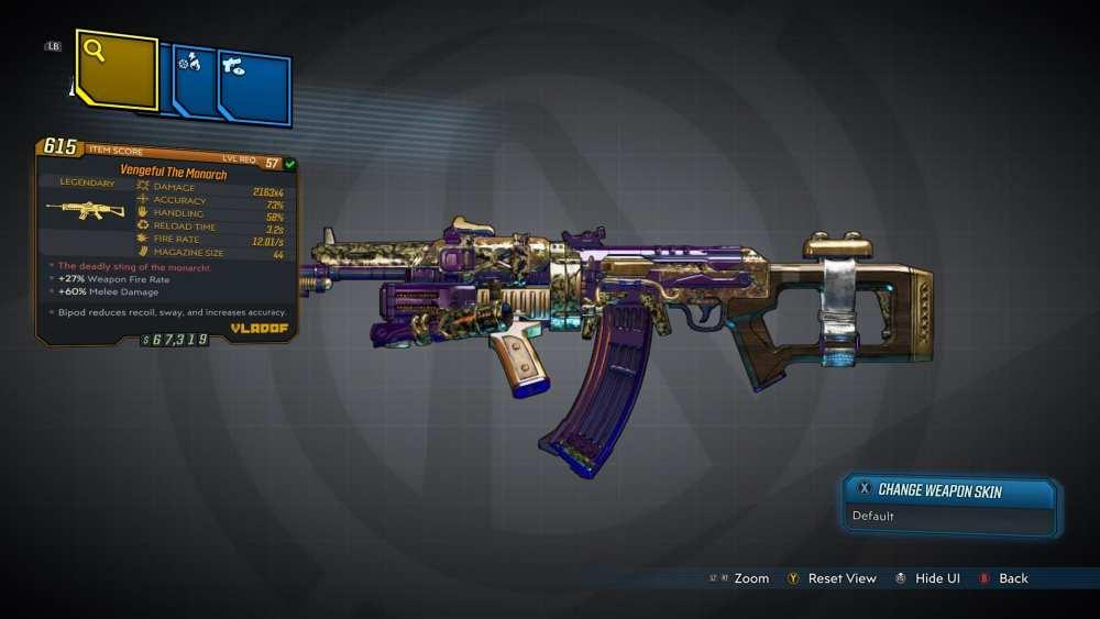 The Monarch Legendary Assault Rifle